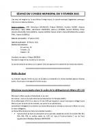 Compte-rendu – 03/02/2021