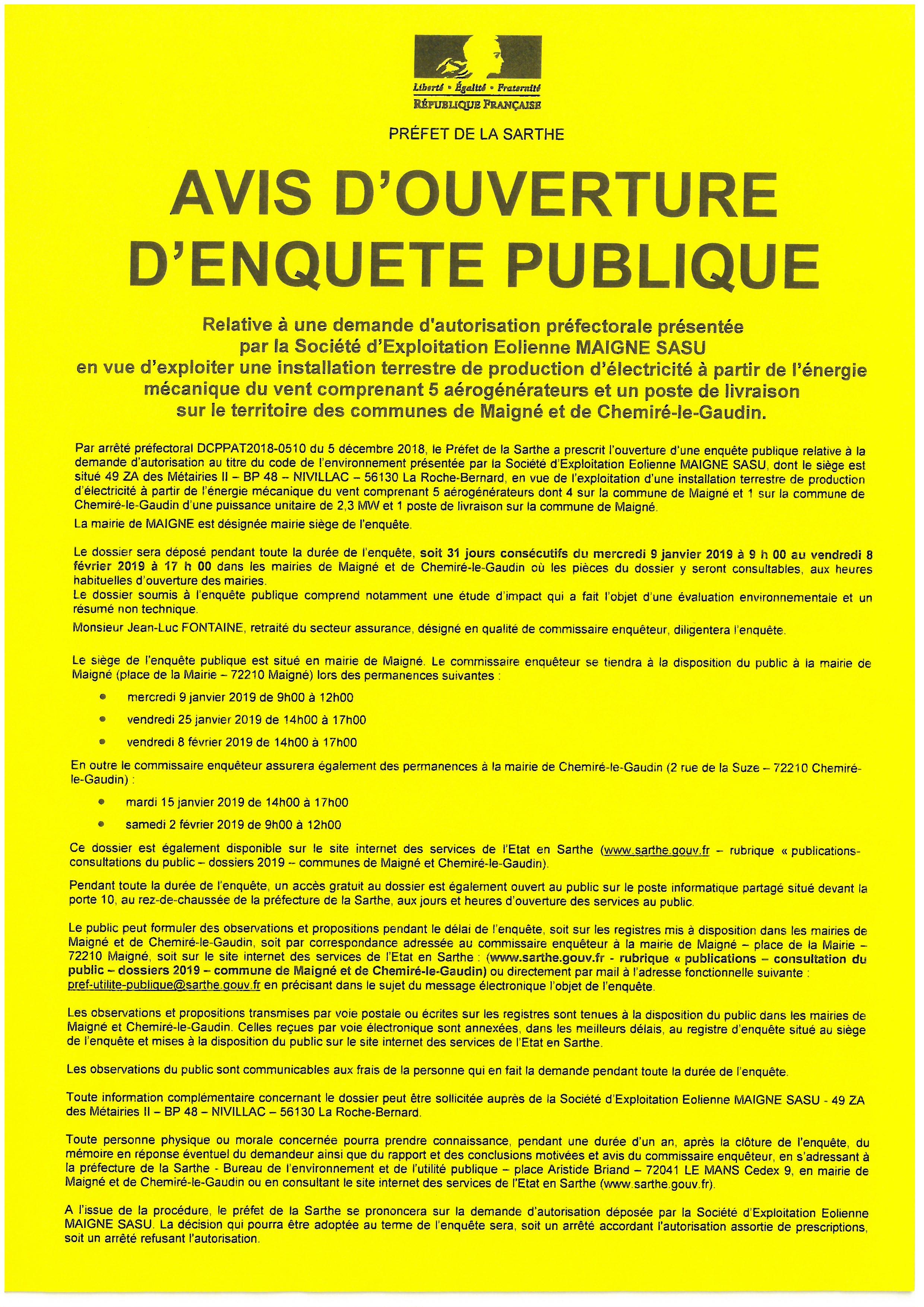 Avis d ouverture d enquête publique d41aefe82b29