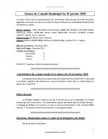 Compte-rendu CM 15/01/2019