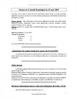 Compte-rendu CM 15/05/2019