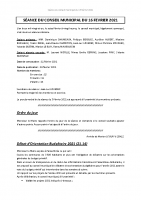 Compte-rendu – 16/02/2021