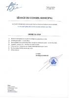 Ordre du jour – 07/07/2021
